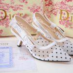 Sepatu dior slingback heels terbaru indonesia 2020 7402-2A1