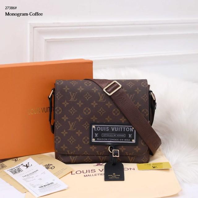 Tas Louis Vuitton Messenger Bag Unisex In Monogram 27386 Platinum