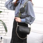 Model tas Louis Vuitton terbaru Pochette Embossed Bag 44823A1 KODE LV 1222