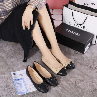 SEPATU CHANEL WANITA IMPORT Chanel Flat 166-36 Semi Premium SCH115