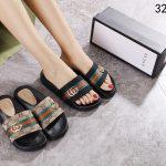 Gucci slip on sandals selempang wanita 2021 2022 #323-92A1