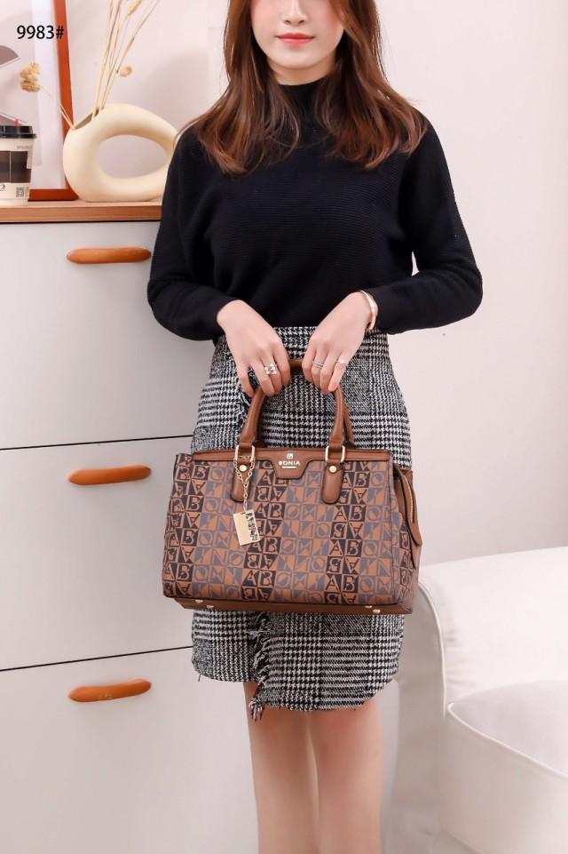 Harga TAS BONIA BATAM TERBARU IMPORT MURAH Tas Bonia Signature Handbag Shoulder Bag 2in1 9983 Semi Premium