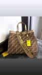 Harga tas selempang FENDI terbaru FF Tote Bag F8802 Platinum