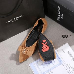 SEPATU WANITA FLAT SHOE YSL TERBARU MURAH Yves Saint Laurent Flat 888-1 Semi Premium