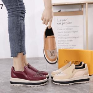 SEPATU louis vuitton wanita WEDGES TERBARU 2021 2022 633-17 Semi Premium