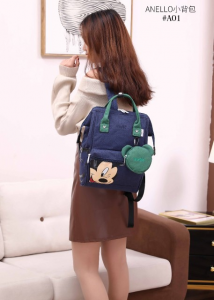 Tas Anello Disney Mickey Mouse Medium Backpack With Pouch A01 Semi Premium