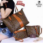 Tas Bonia Batam Import Harga murah Shopper Tote 3in1 8808 Semi Premium