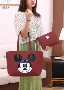 Tas Lacoste Mickey Bolbal Tote Bag 888 Semi Premium