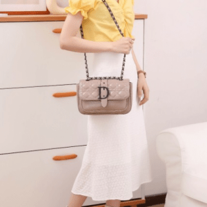 Tas dior selempang wanita IMPORT TERBARU murah Cannage Flap Shoulder Bag 2202 Platinum