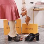SANDAL WANITA BRANDED KEKINIAN Sandal Louis Vuitton Heeled 2021-1 Platinum