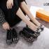 SEPATU FLAT SHOES WANITA REKOMENDASI 2021 2022,Sepatu Louis Vuitton Flat In Damier LC813-8 Semi Premium