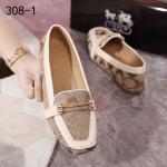 SEPATU WANITA FLAT BRANDED,Sepatu Flat Coach Signature Canvas 308-1 Semi Premium