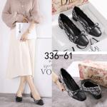 sepatu wanita kantor NYAMAN BERKUALITAS,Sepatu Dior Oblique Jaquard Block Heels 336-61 Semi Premium