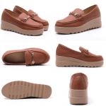 Sepatu WANITA KEKINIAN KOREA MODEL TERBARU 2021 Anela Lyne Wedges Rene ANE1014 Original Brand Kode SAN112