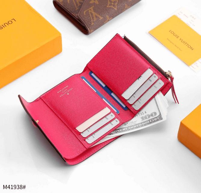 Dompet WANITA LV TERBARU,Louis Vuitton LV Victorine Trifold Wallet Monogram M41938 Platinum Kode DLV100 3