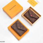 Dompet WANITA LV TERBARU,Louis Vuitton LV Victorine Trifold Wallet Monogram M41938 Platinum Kode DLV100