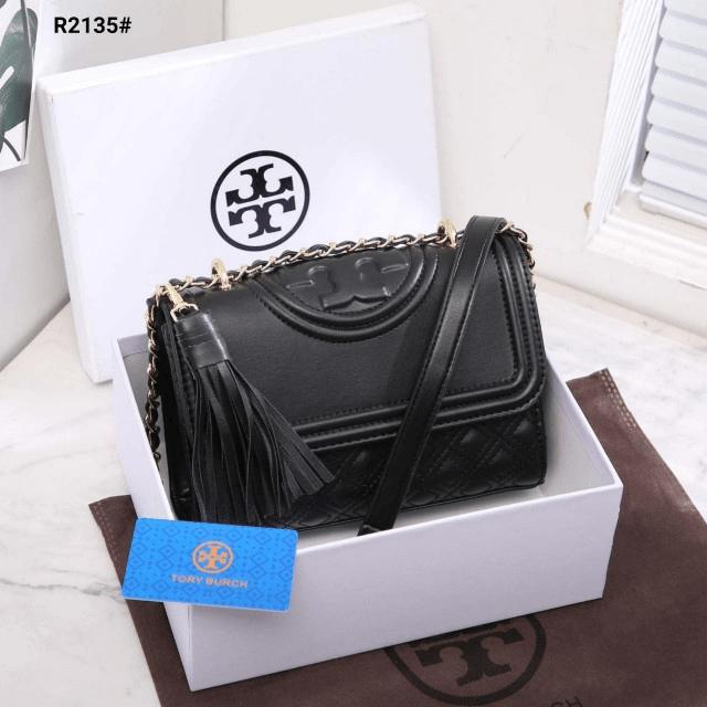 MODEL TAS SELEMPANG KECIL TERBARU,Tas Tory Burch Fleming Convertible Shoulder Bag R2135 Semi Premium Kode TRB076 3