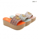 SANDAL WANITA KOREA KEKINIAN Sandal Tory Burch Wedges Platform Slide Mules 2093-17 Semi Premium Kode STB258