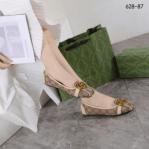 SEPATU FLAT WANITA GUCCI TERBARU Sepatu Gucci Flat 628-87 Platinum kode SGU384