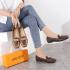 SEPATU KANTOR WANITA BRANDED,Sepatu Louis Vuitton LV Logo Flat Loafer 793 Semi Premium Kode SLV396