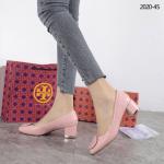 SEPATU WANITA HAK TAHU TINGGI TERBARU Sepatu Tory Burch Classic Block Heels 2020-45 Semi Premium Kode JSD046