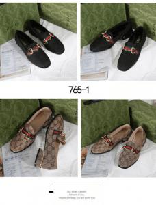SEPATU WANITA KERJA Sepatu Gucci GG Horsebit Loafers 765-1 Platinum