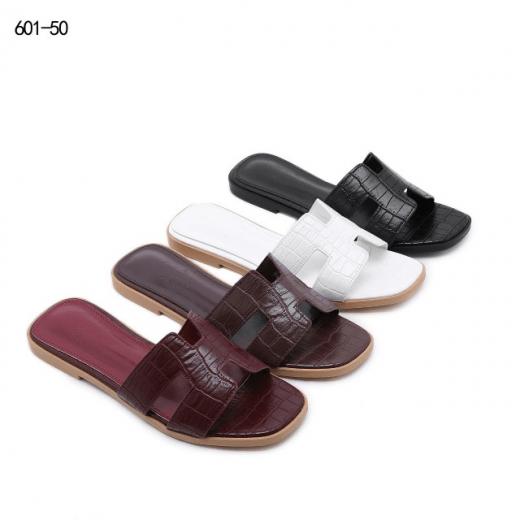 Sandal BRANDED KEKINIAN TERBARU Hermes Croco Oran Sandals #601-50 Semi Premium Kode SHE117 4