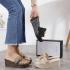 Sandal Gucci WANITA WEDGES TERBARU Double G Wedges Platform 733-1 Semi Premium Kode SGU389