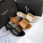 Sandal heels wanita model terbaru,Sandal Yvest Saint Laurent Croco Leather Block Heels B426-L2 Semi Premium Kode YSL402