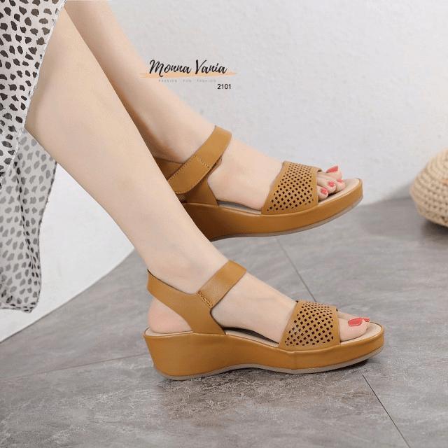 Sandal wanita KEKINIAN 2021, SANDAL Monna Vania Footwear 2101 Original Brand Kode SMV504