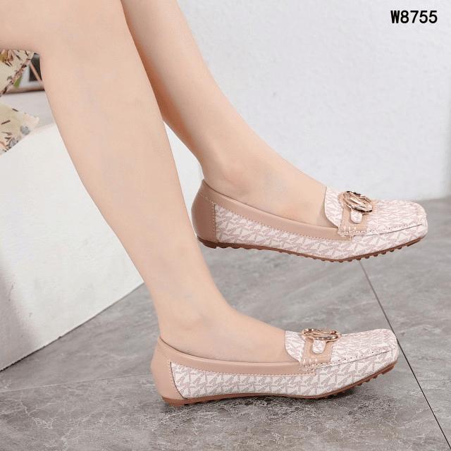 Sepatu FLAT SHOES WANITA TERBAIK, Michael Kors MK Logo Premium Loafers Flats W8755 Semi Premium Kode SMK078 4