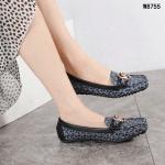 Sepatu FLAT SHOES WANITA TERBAIK, Michael Kors MK Logo Premium Loafers Flats W8755 Semi Premium Kode SMK078