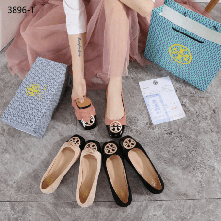 Sepatu FLAT SHOES WANITA terbaru TB Tory Burch Flat 3896 T Semi Premium Kode STB261 2