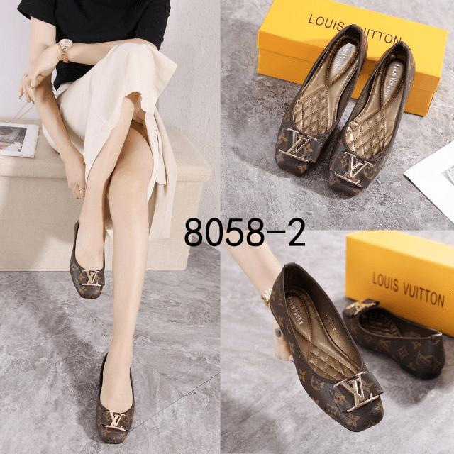 Sepatu Flat Shoes Wanita Terbaru Louis Vuitton LV Logo Bow 8058-2 Semi Premium Kode SLV213 3