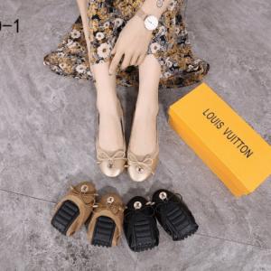 Sepatu Louis Vuitton WANITA TERBARU 2021 Leather Ballet Flat B890-1 Semi Premium Kode SLV318