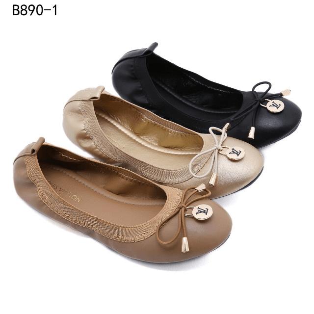 Sepatu Louis Vuitton WANITA TERBARU 2021 Leather Ballet Flat B890-1 Semi Premium Kode SLV318 4