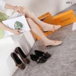 Sepatu Louis Vuitton WANITA TERBARU Bahia Flat Loafer 628-L Platinum KODE SLV392
