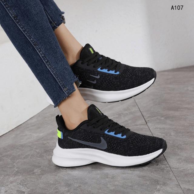 Sepatu Nike Sport Sneakers A107 Platinum Kode SNK341 TERBARU PREMIUM,HARGA Sepatu Nike Sport 2