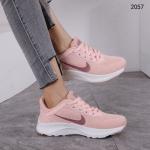Sepatu Nike WANITA TERBARU  Sport Sneakers 2057 Platinum KODE SNK340