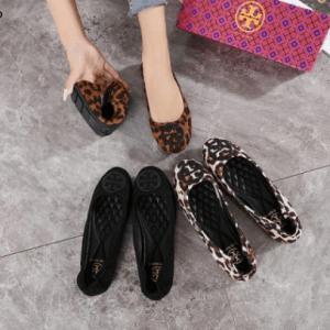 Sepatu Tory Burch Minie Travel Ballet Flats In Leopard Print Minie A813-1256 Semi Premium Kode STB266 235rb