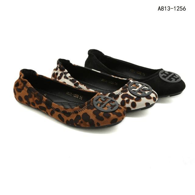 Sepatu Tory Burch Minie Travel Ballet Flats In Leopard Print Minie A813-1256 Semi Premium Kode STB266 235rb 4
