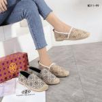 Sepatu WANITA TERBARU Tory Burch Espadrilles Classic Logo Tory W211-99 Semi Premium Kode STB269