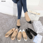 Sepatu Wanita branded kekinian,Valentino Garavani Rockstud Flats Shoes W36360 Semi Ori Kode SFA1330