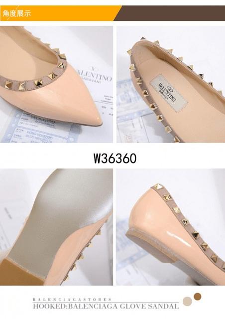 Sepatu Wanita branded kekinian,Valentino Garavani Rockstud Flats Shoes W36360 Semi Ori Kode SFA1330 2