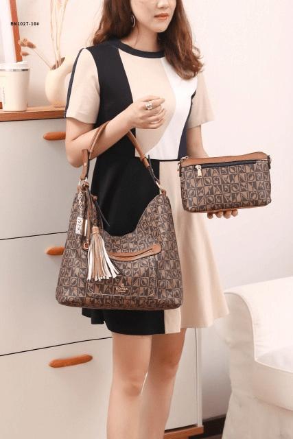 TAS BONIA PREMIUM TERBARU 2021,Tas Bonia Classic Hobo Tassel Bag BN1027-10 Semi Platinum Kode BON258 55