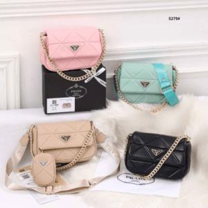 Tas Batam,tas Import, tas Branded Prada Sling Chain Bag 5279 Semi Premium Kode PRA049