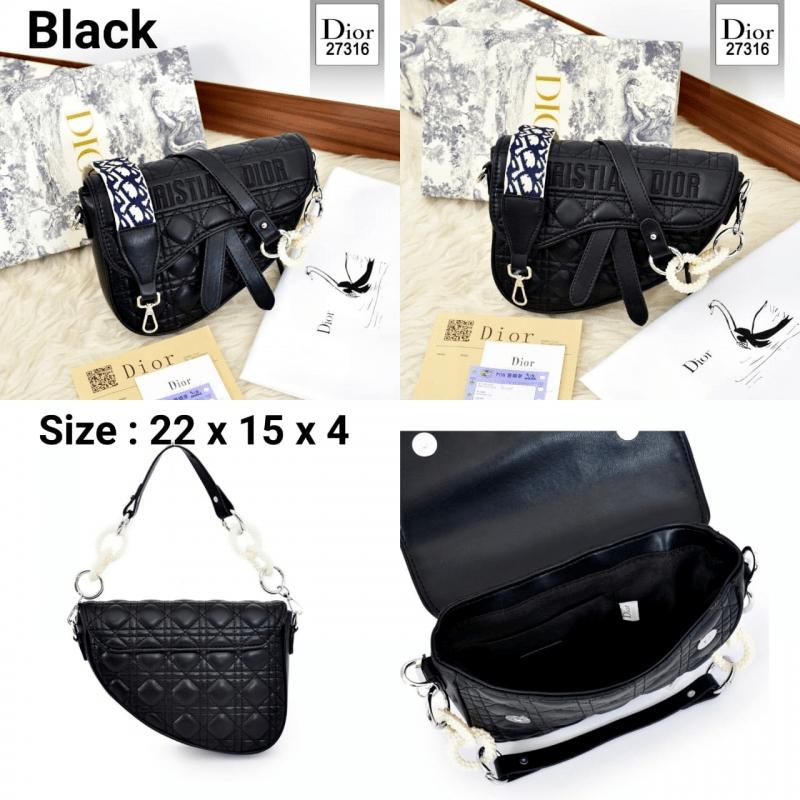 Tas Dior Terbaru 2021 Saddle Bag 27316 Platinum Kode CD4091,Tas Dior kecil kw hitam terbaru batam import 2