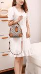 Tas Gucci SELEMPANG WANITA TERBARU Bucket Bag 6806 Platinum Kode GUC1067