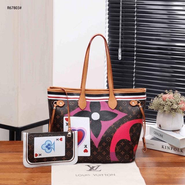 Tas LV NEVERFULL HARGA TERBARU,Louis Vuitton Neverfull Tote Game On Monogram Pouch R67803 Semi Premium Kode LV1273 4