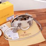 Tas LV WANITA TERBARU WARNA PUTIH, Louis Vuitton Alma Croco Himalaya Hand Bag M211060 Semi Premium Kode LV1359